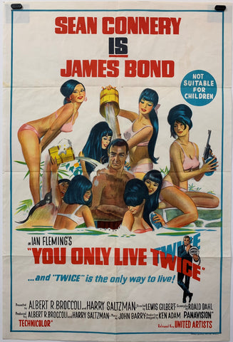 YOU ONLY LIVE TWICE (1967) ORIGINAL MOVIE POSTER