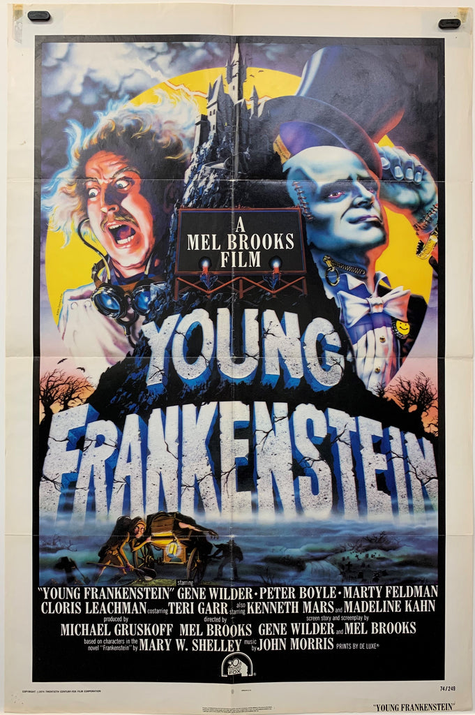 YOUNG FRANKSTEIN (1974) ORIGINAL MOVIE POSTER