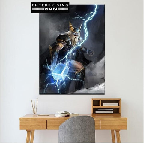 Thor God of Lightning Modern Decor Canvas Wall Art HD Print