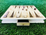 Premium Carved Wooden Backgammon Board Set