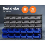 Giantz 30 Bin Wall Mounted Rack Storage Organiser