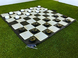 Giant Size Outdoor Draughts Checkers Game Set 3x3m