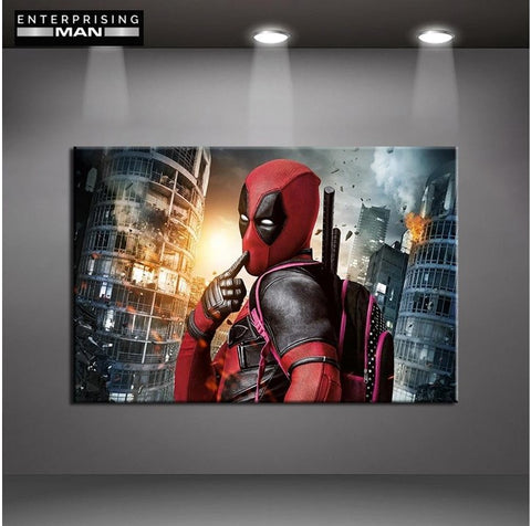 Deadpool Movie Poster Modern Decor Canvas Wall Art HD Print