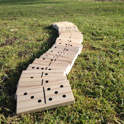 Giant Outdoor Dominoes Game Set with 28 Pieces
