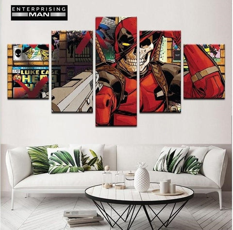 5 Panel Deadpool Comic Modern Decor Canvas Wall Art HD Print