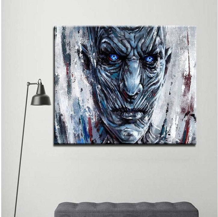 Game Of Thrones White Walker Painting Modern Décor Wall Art Canvas Hd Print