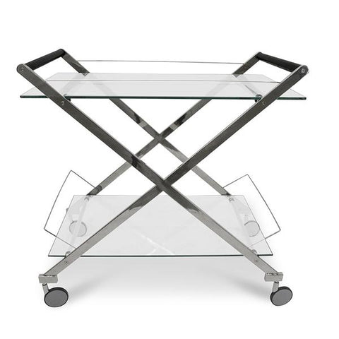 Stainless Steel Polish Bar Cart