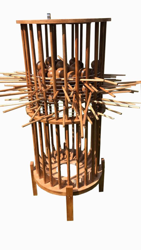 Giant Wooden Kerplunk Outdoor Game Set 1.5m
