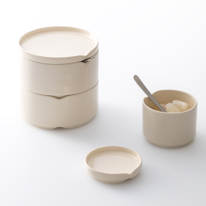 Hasu stacking bowl w. lid - S