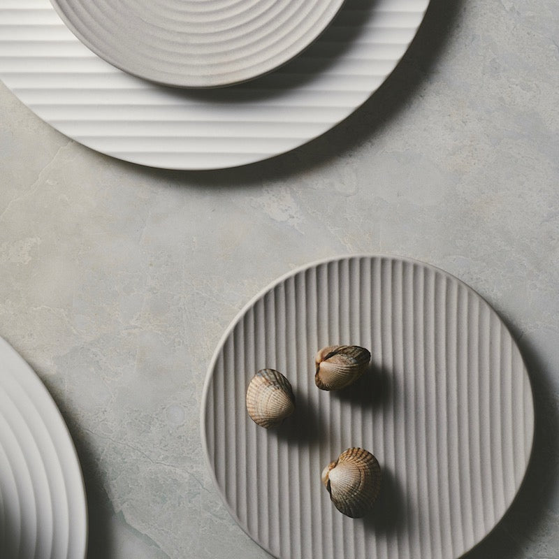 Cekitay Line small plate - stone grey (S) 🇯🇵 25 % off - ZEN