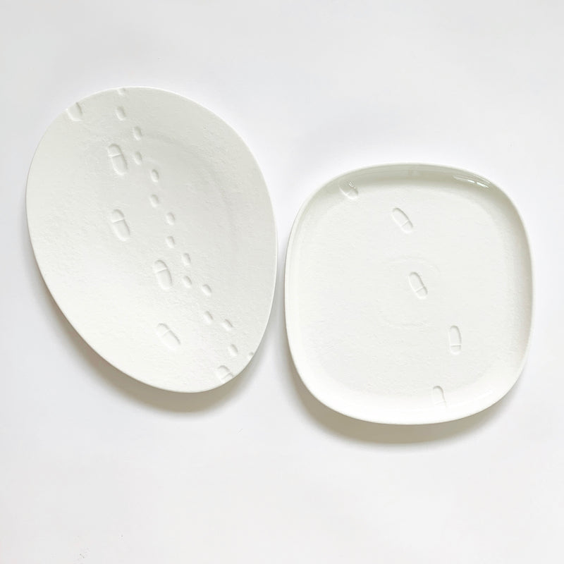 Snow waltz - square lunch plate (M)