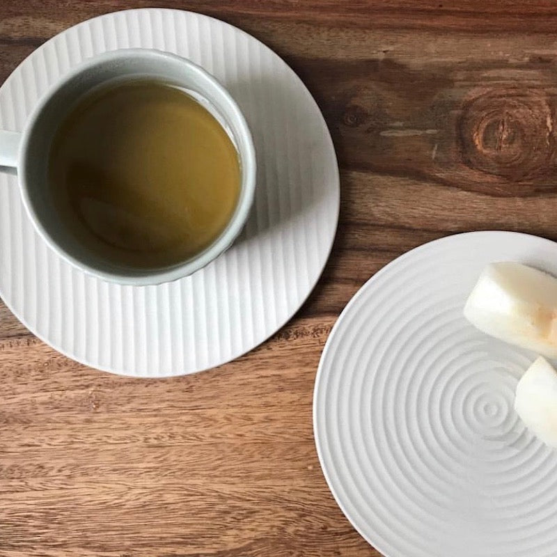 Beautiful Japanese tableware. Make your dinner table look fabulous with these circle and line plates and cups  - shop JAHOKO.com