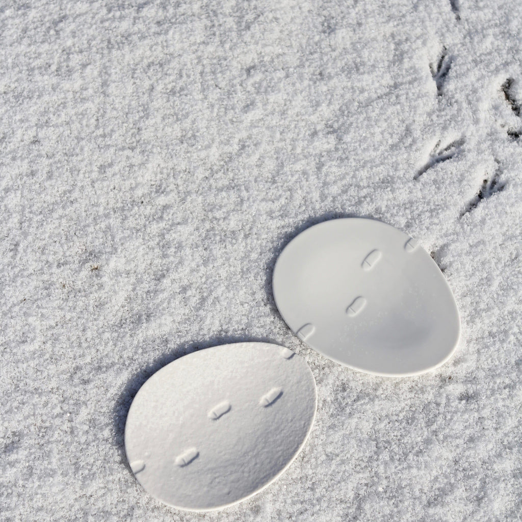 Snow waltz - small oval plate (S)
