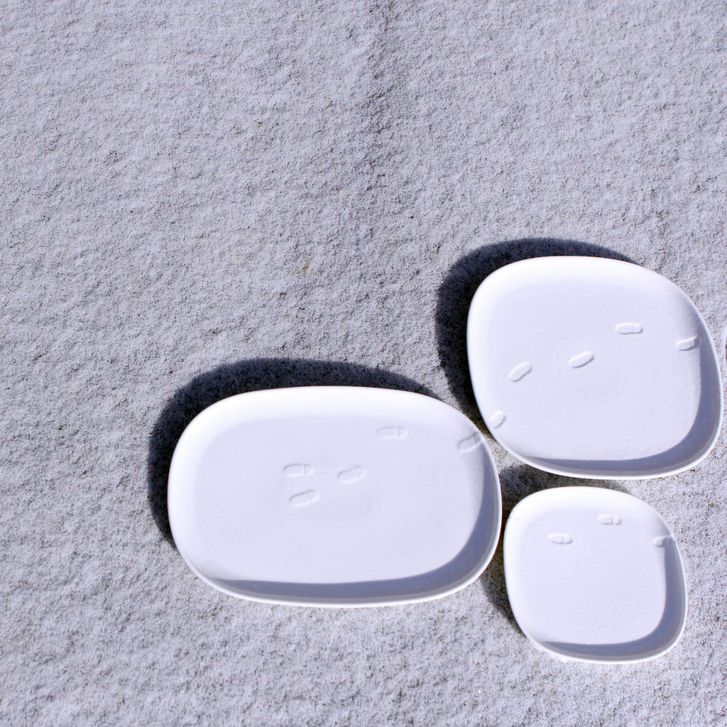 Snow waltz - square dinner plate (L)