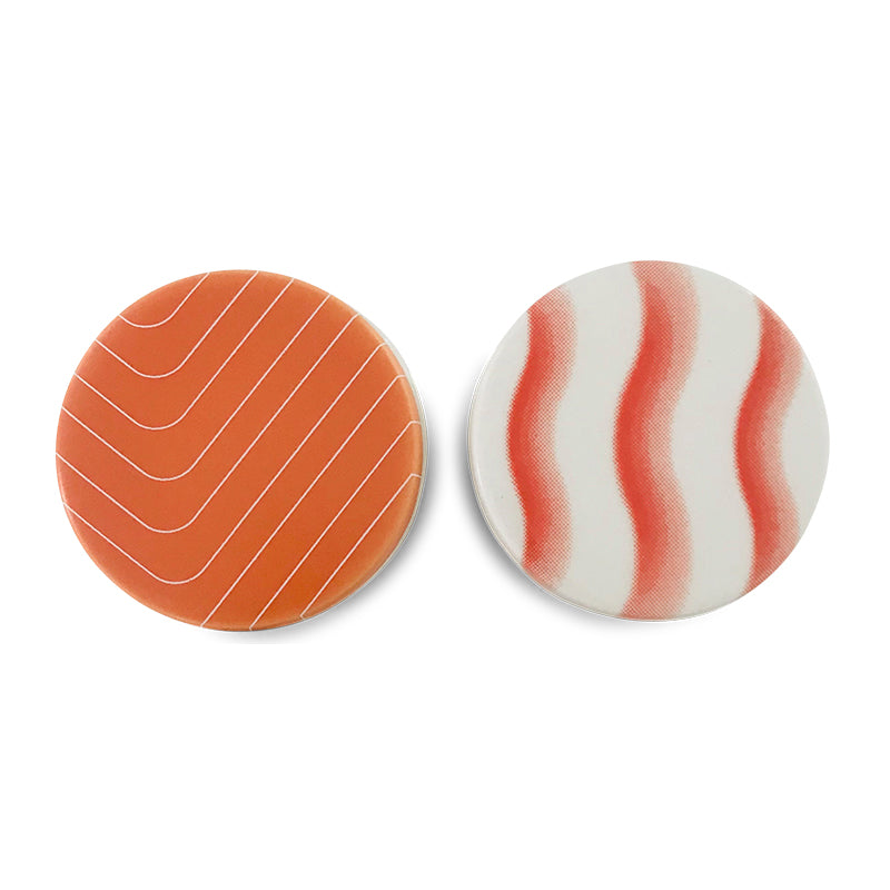 Small porcelain sushi containers - Salmon and shimp