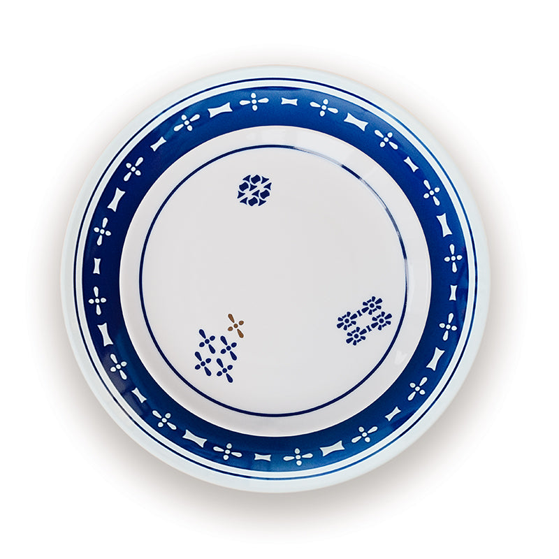 Tribute - blue porcelain dinner plate