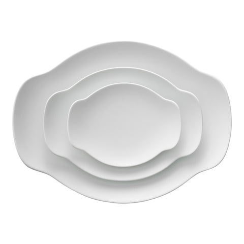 ReIRABO oval plate - off shore blue