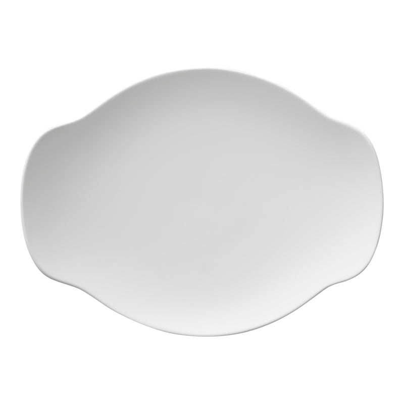White matte porcelain Japanese plate - at JAHOKO.com