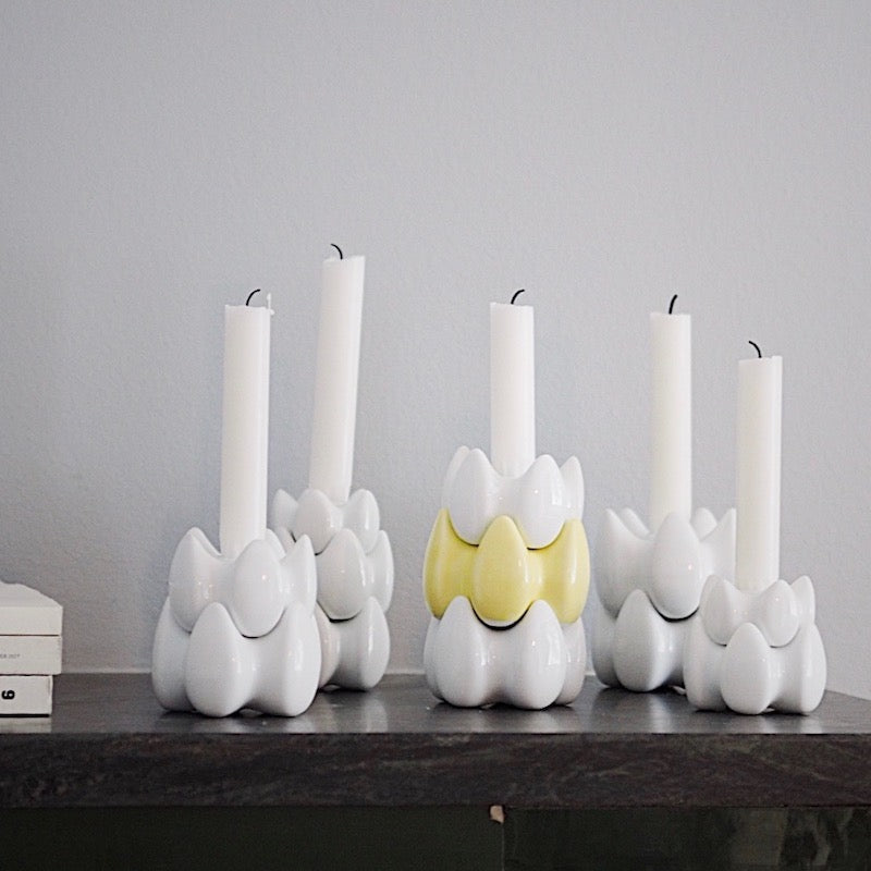SML candle holder - white