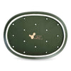Cactus - small olive green plate (S) - OUTLET