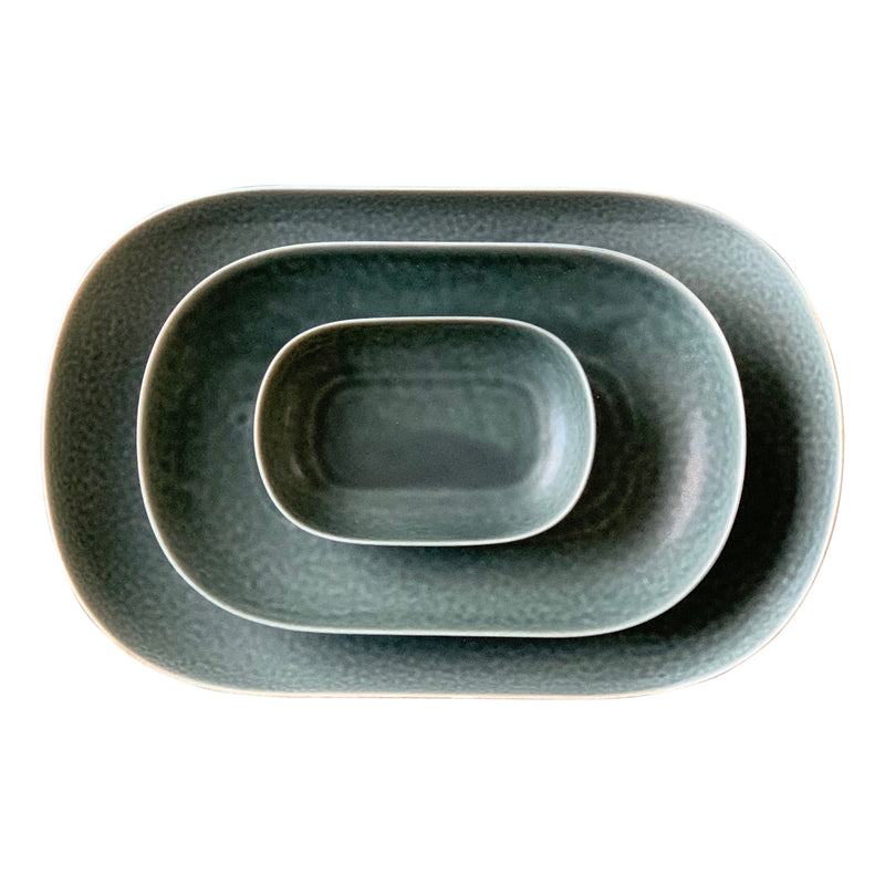 ReIRABO oval plate - winther night gray