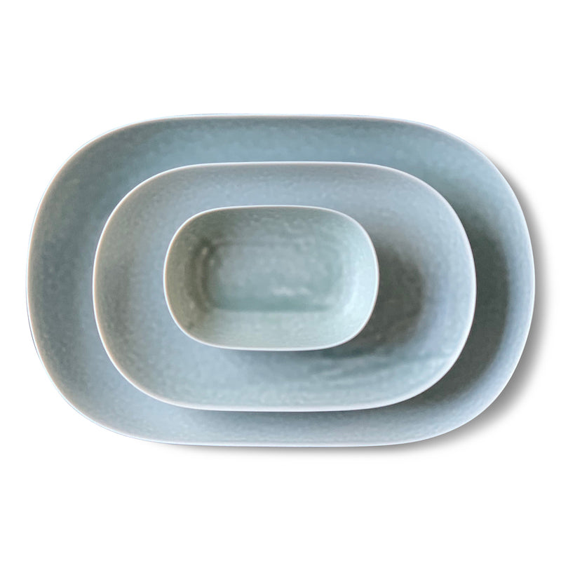 ReIRABO oval plates - spring mint green