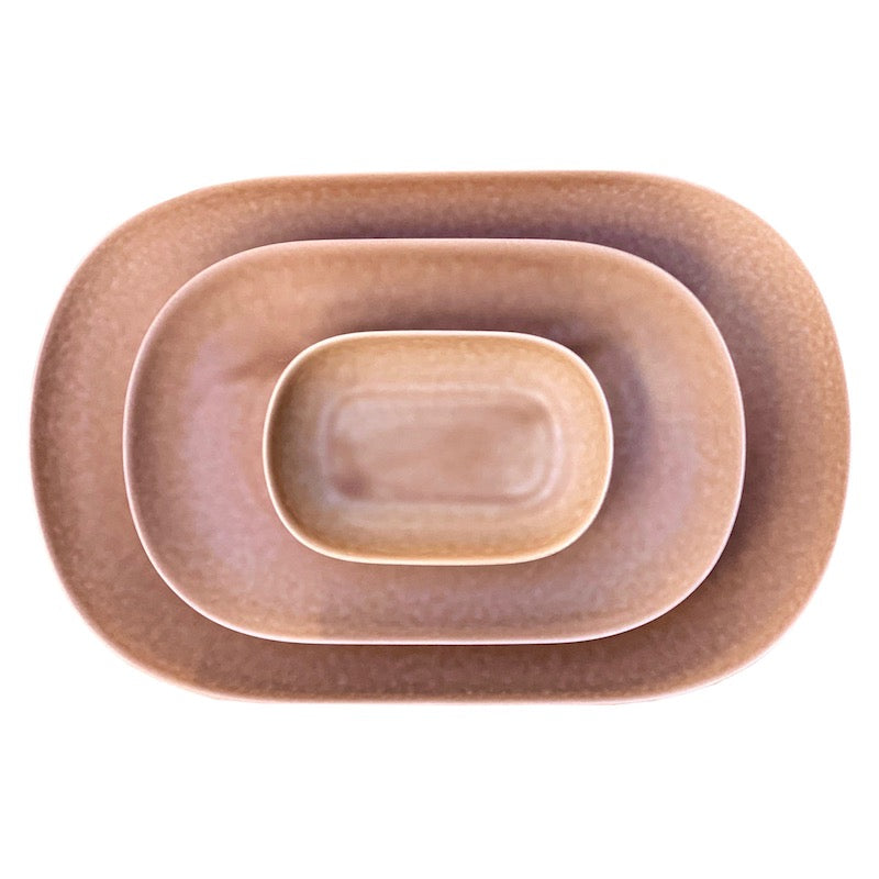 ReIRABO oval plates - soil brown