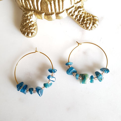 Boucles d'oreilles Natacha + Amazonite