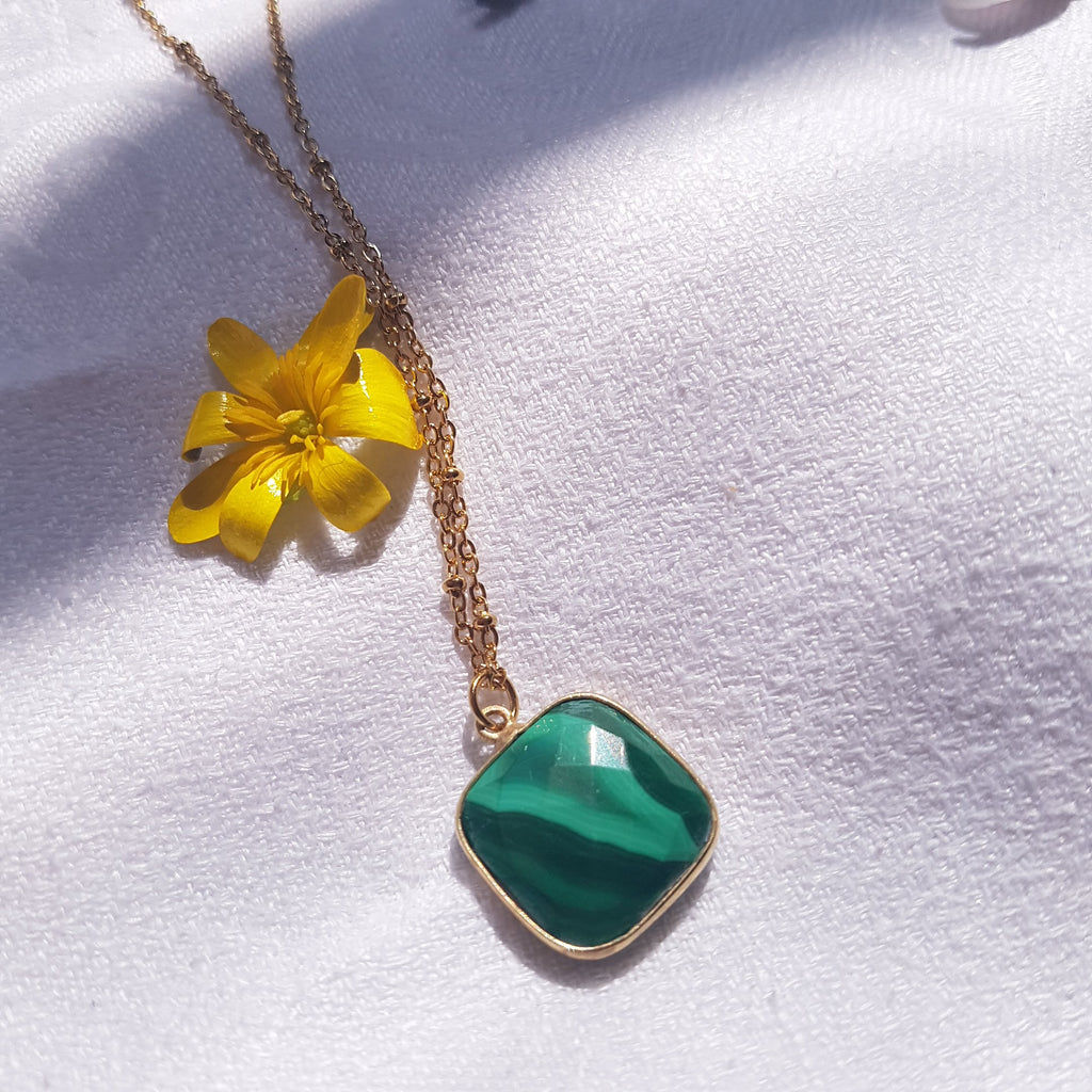Collier Justine Malachite