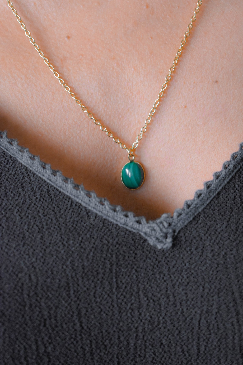 Collier Solange Malachite