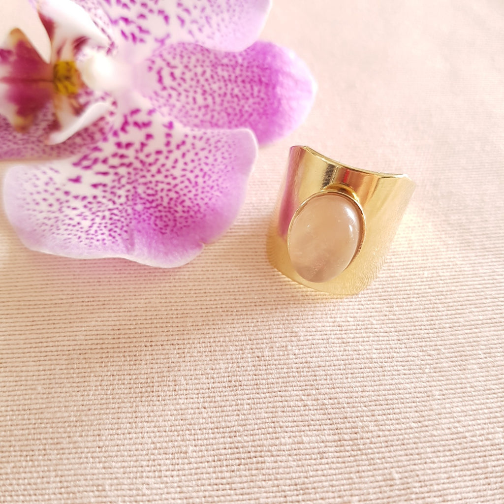 Bague Caroline Quartz rose