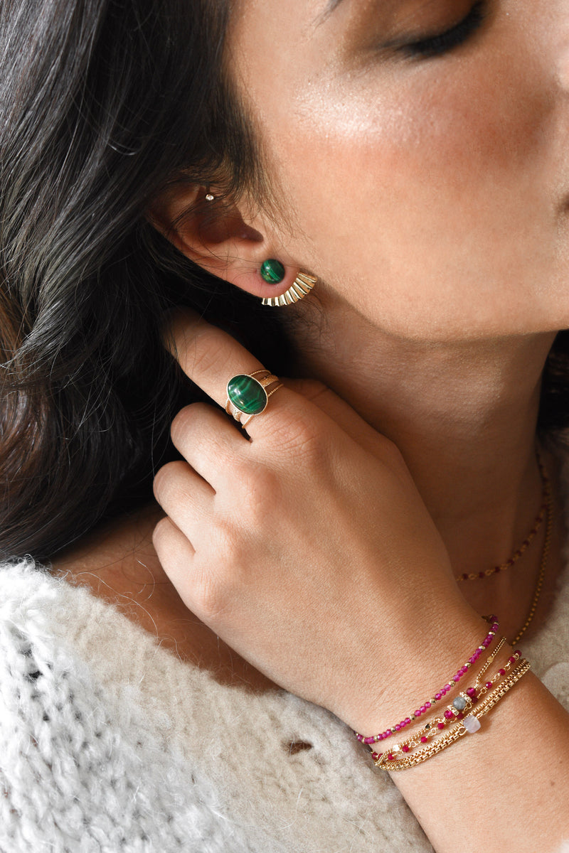 Bague Mathilde Malachite