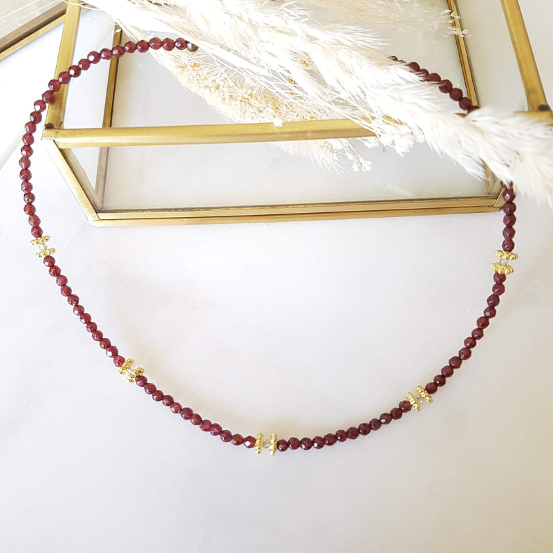 Collier Paola Rouge (Grenat)