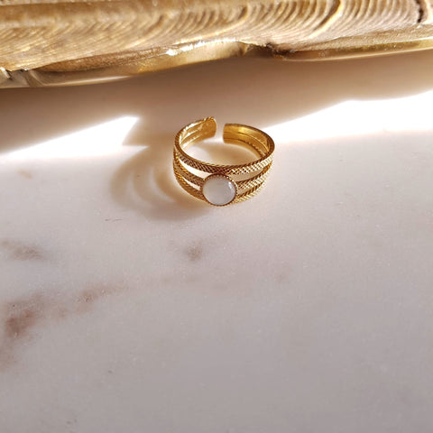 Bague Mathilde Agate Mousse