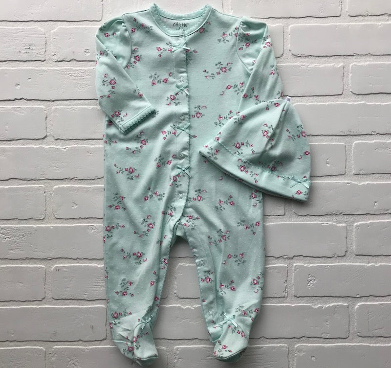 Mint Sleeper with Roses