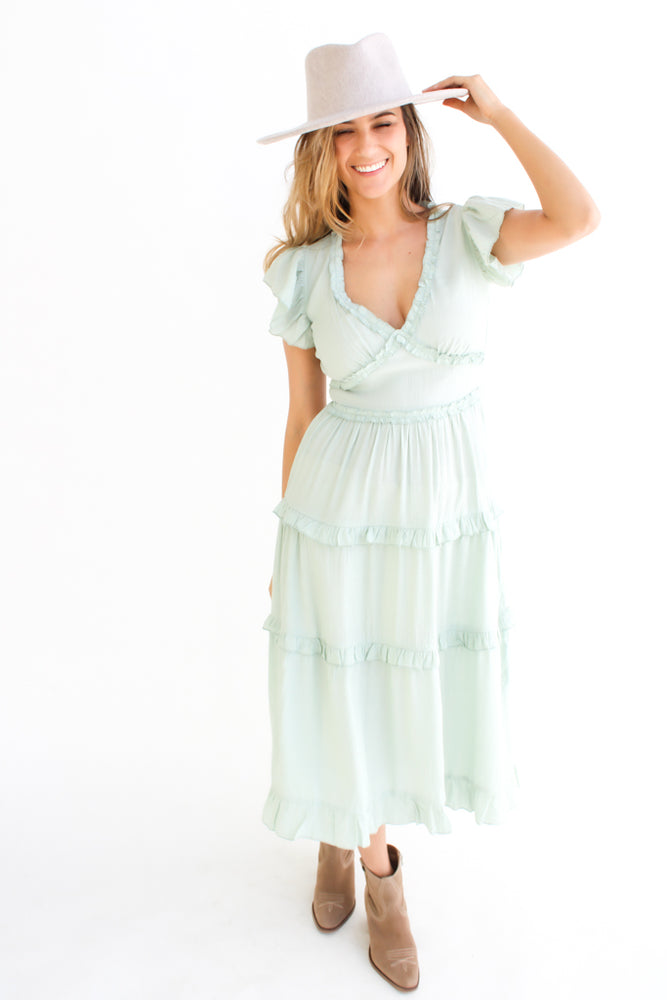 Button Trim Waffle Top