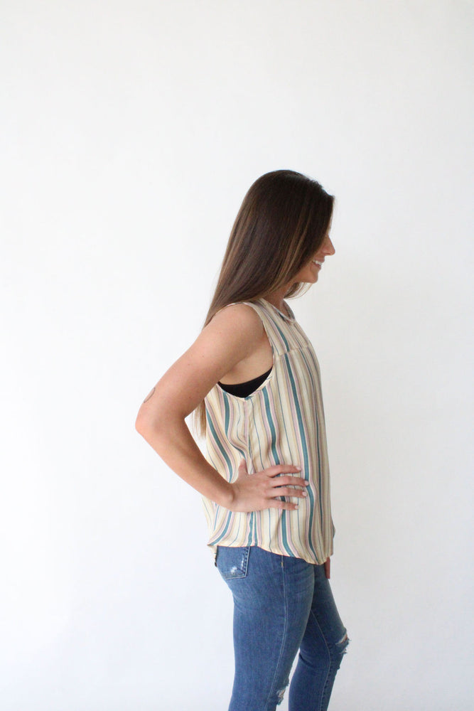 Silky Shirttail Muscle Tank