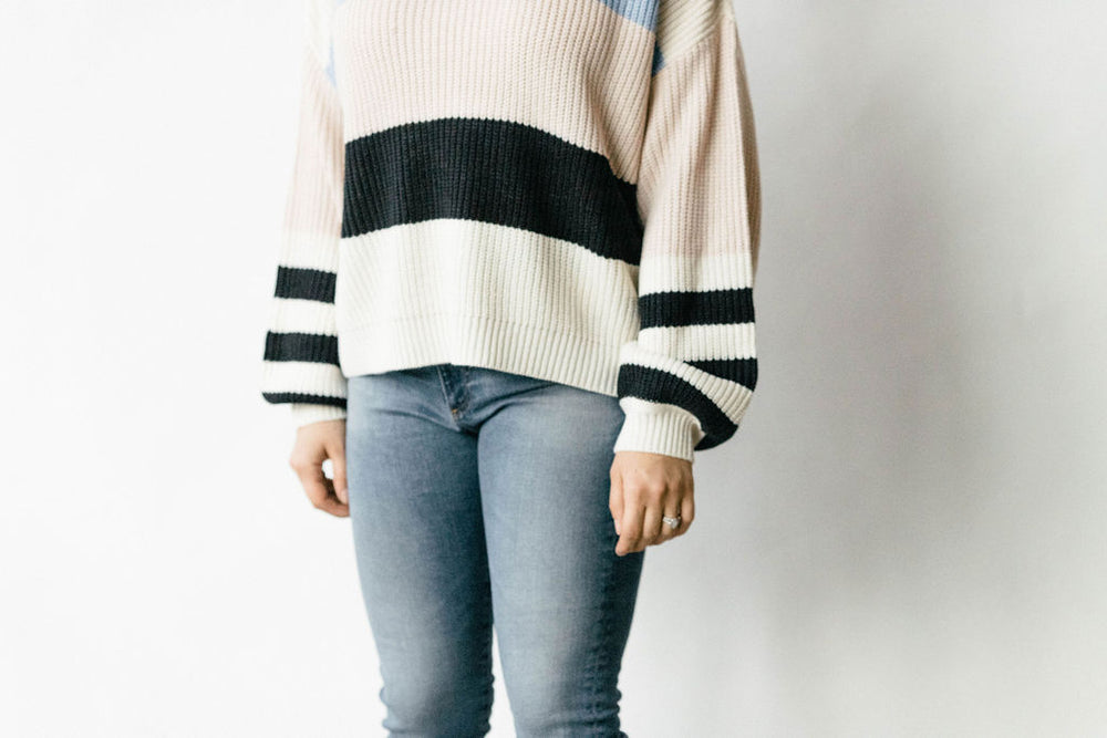 Playful Striped Sweater