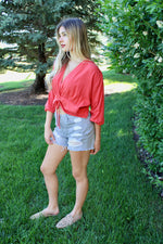 Cinched Front Blouse