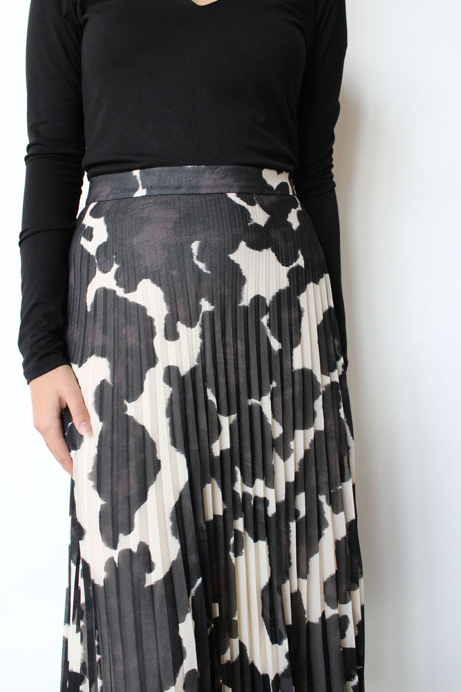 Pleat It Midi Skirt