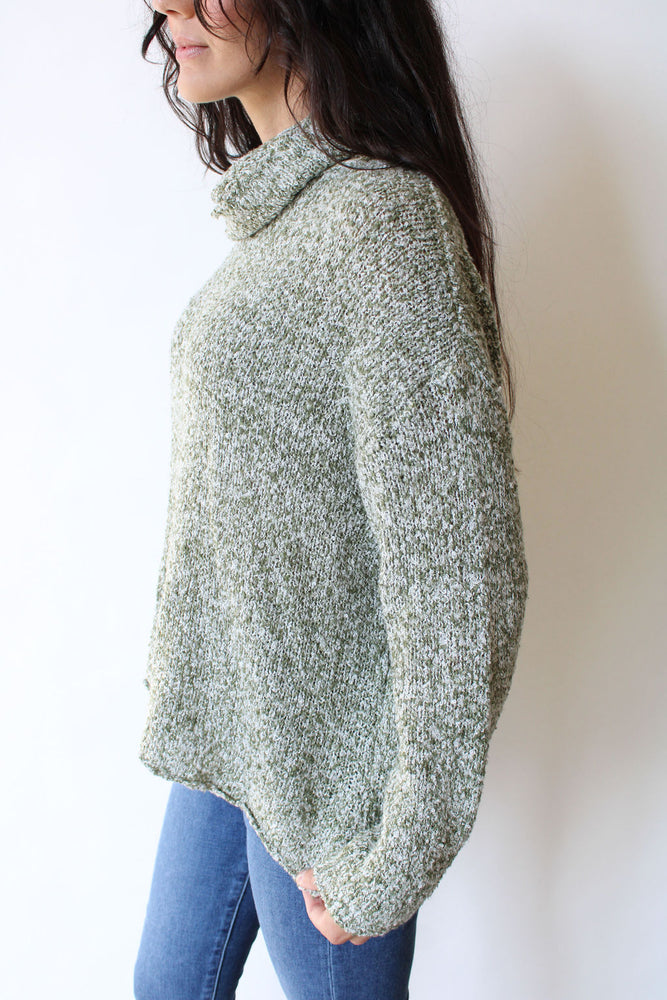 Turtle Neck Knit Sweater
