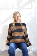 Loose Fit Stripe Sweater