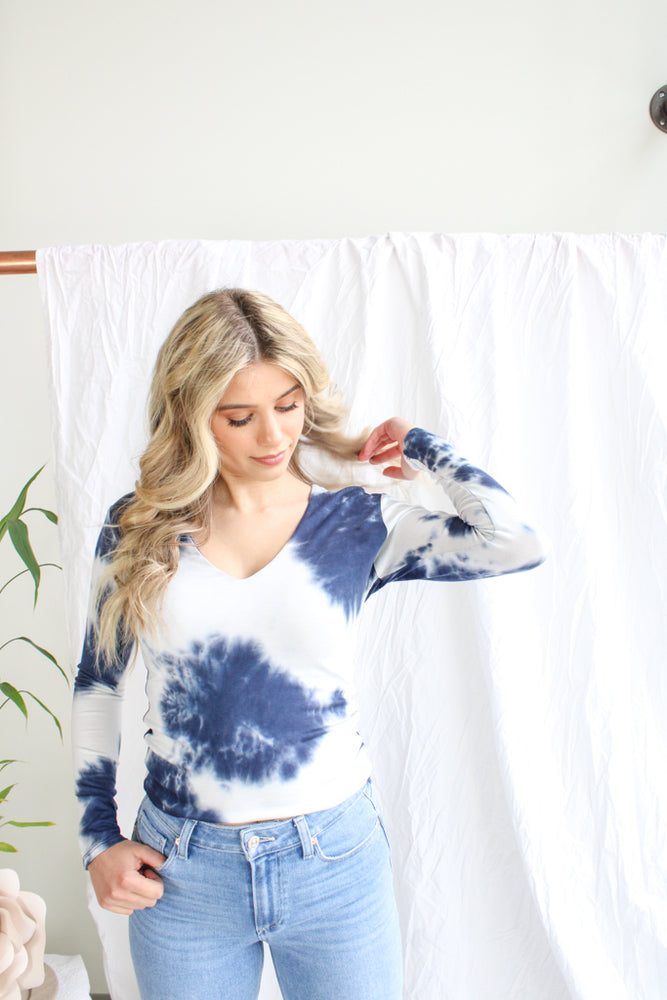 Tie Dye V-Neck Crop Top