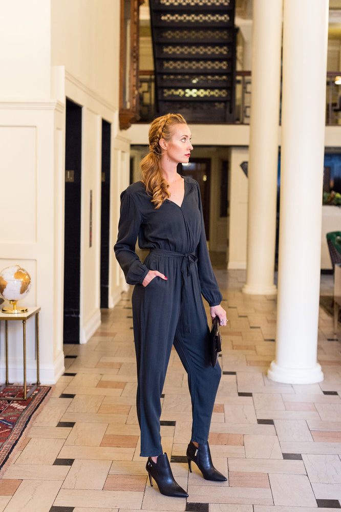 Desk To Dinner Wrap Jumpsuit