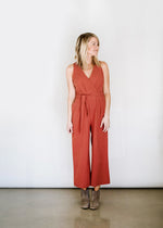 V-Neck Side Tie Jumpsuit