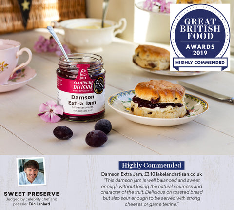 Cumbrian Delights Award Winning Damson Jam