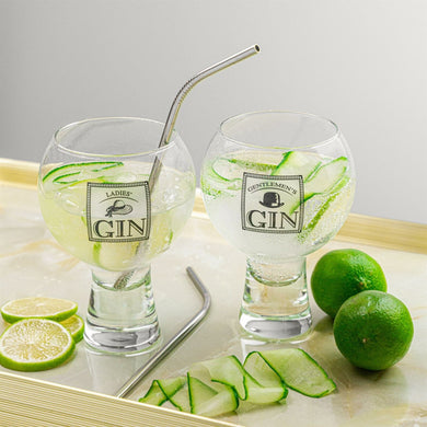 Ladies and Gentlemen's Gin Glasses