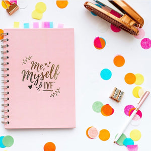 Blush Pink & Silver Me and Myself IVF Diary