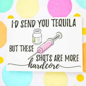 Tequila Shots Fertility greeting card