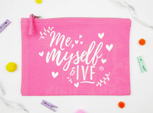 My myself & IVF- Pink & Pearl White